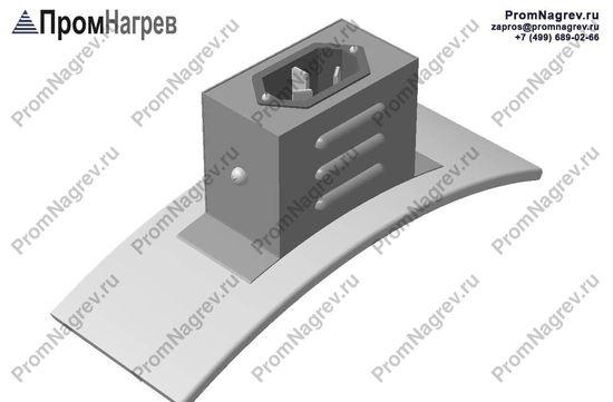 Вилка трехконтактная  на коробе радиально - подключение хомутового нагревателя