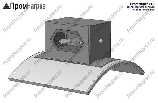 Вилка трехконтактная тангенциально - подключение хомутового нагревателя