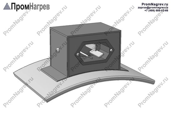 Вилка трехконтактная по оси - подключение хомутового нагревательного элемента