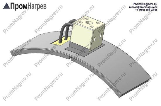Клеммная колодка - подключение керамического хомутового нагревателя