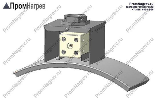 Клеммная колодка, закрытая коробом - подсоединение хомутового нагревателя