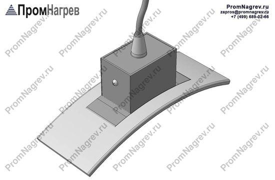 Термостойкий провод радиально - электроподключение хомутового нагревателя