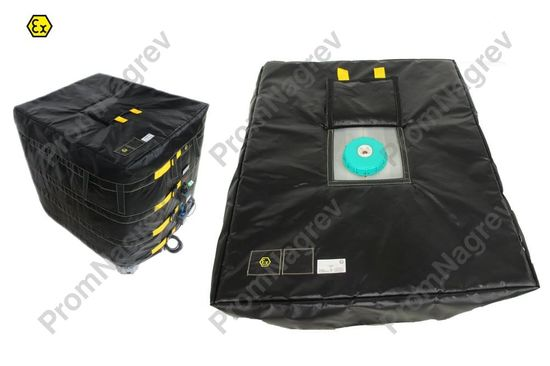 Взрывозащищённая нагревательная рубашка для евроконтейнера IBC + изолдирующая крышка (дополнительная опция)