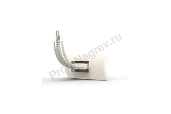 Керамический излучатель вогнутый HTE 125 - 500 Вт, 122x60x34 мм со встроенной ТП тип К