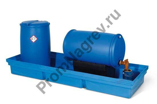 Экологически безопасный полиэтиленовый поддон PolySafe PSW 2.4-R без решётки.