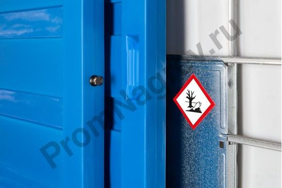 Склад для хранения масел, кислот и щелочей с распашными дверями