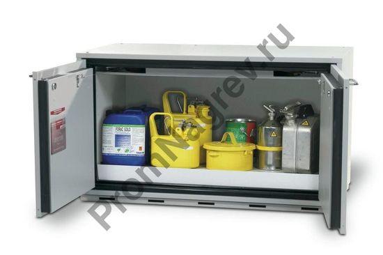 Шкаф для огнеопасных веществ с поддоном, распашной, GU 112.