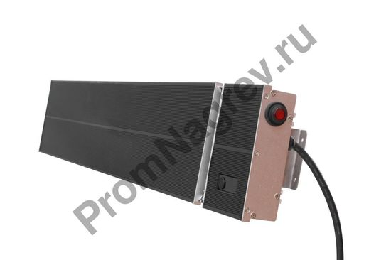 Инфракрасный обогреватель FS-2600, черный корпус, мощность 2600 Вт, на пульте управления, 2 режима нагрева