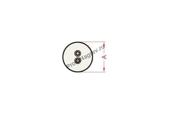 Отвод с керамическим колпачком диаметром от 6,5 до 25 мм, тип T2