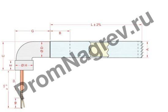Угловой отвод с изогнутой трубкой диаметром от 6,5 до 20 мм, тип T9СА