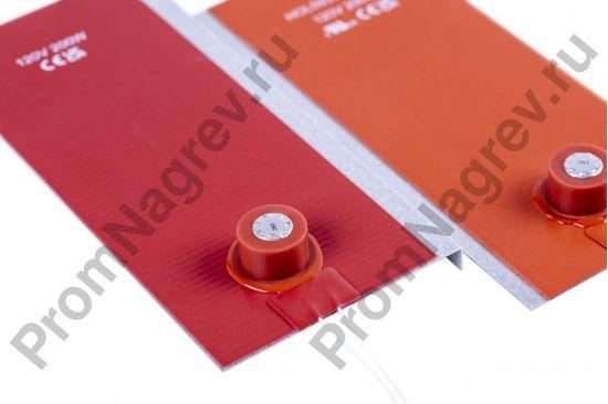 Силиконовый нагреватель для электрошкафа 100x250 мм, 200 Вт/240 В, провод 500 мм