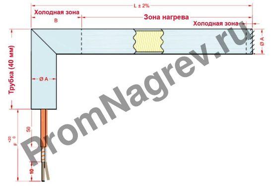 Угловой отвод c прямой трубкой диаметром от 6,5 до 25 мм, тип T9РВЕ
