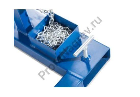 Поворотное устройство SVK из окрашенной стали для бочек 200 литров, с цепью для максимально точной работы с емкостью