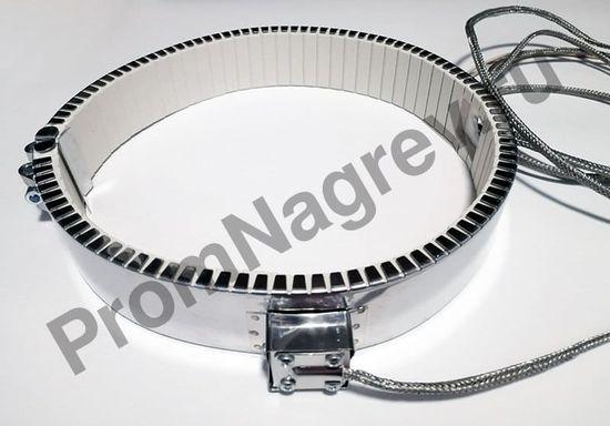 Кольцевой керамический нагреватель посадочный диаметр 245 мм, ширина 50 мм,  высокотемпературный провод 1500 мм