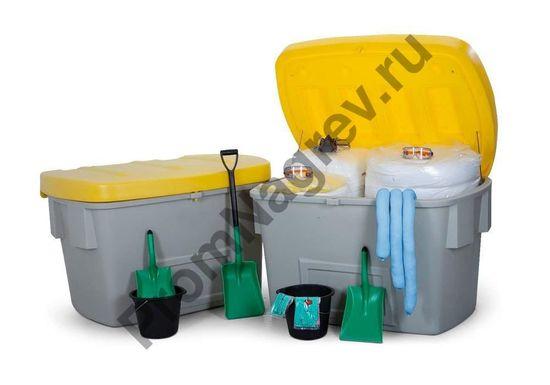 Аварийный набор MAXI XL в 2 защитных коробках, рассчитанный на 1100 литров масла/нефти.
