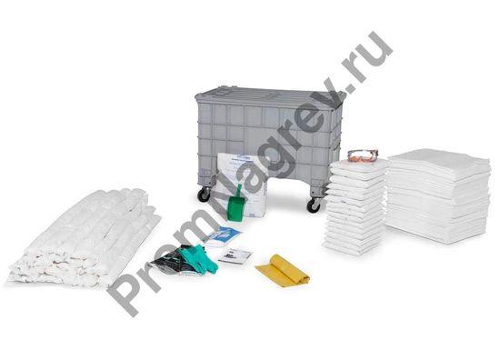 Материалы -сорбенты, содержащиеся в аварийном наборе на колёсиках.