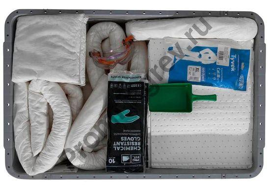 Внутреннее наполнение ящика на ножках, приспособленного под транспортировку.