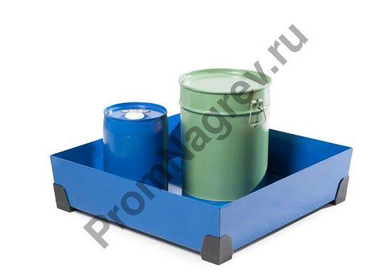 Маленькие бочонки удобно стоят в лотке на малые формы хранения, объёмом 90 литров, решётки нет, ножки - пластмасса.