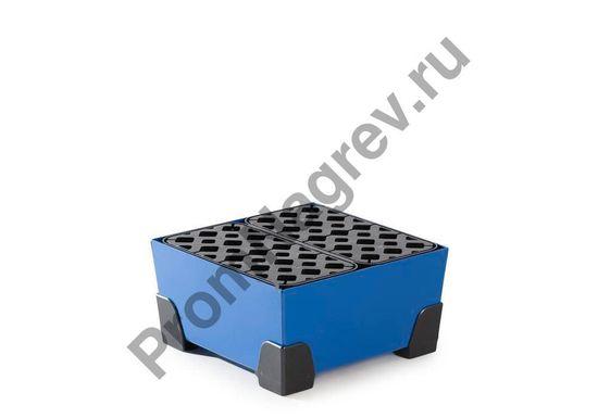 Квадратный лоток, объем 20 литров, пластиковые уголки и решётка