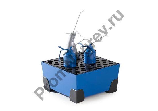 Поддон квадратной формы, маленький, решетка пластиковая, ножки тоже.