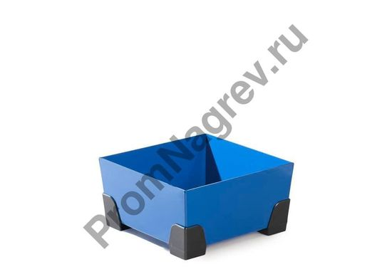Лоток для малых форм с пластиковыми уголками, вместимость 20 литров, без решётки, 392x392x200.