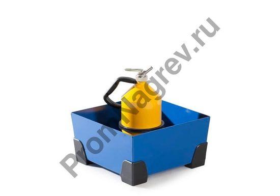 Как можно установить тару в лоток стальной, уголки из пластика, под небольшую тару.
