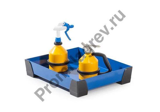 Лоток на десять литров, без решётки, уголки пластмассовые, 500x400x95.
