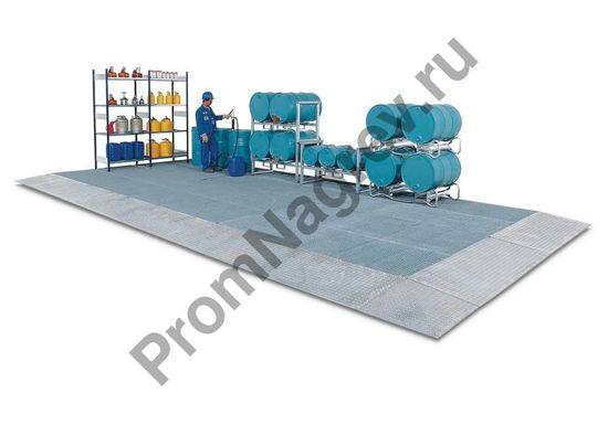 Малая защитная стальная платформа с колёсной нагрузкой 450 кг, 500x500x123 мм