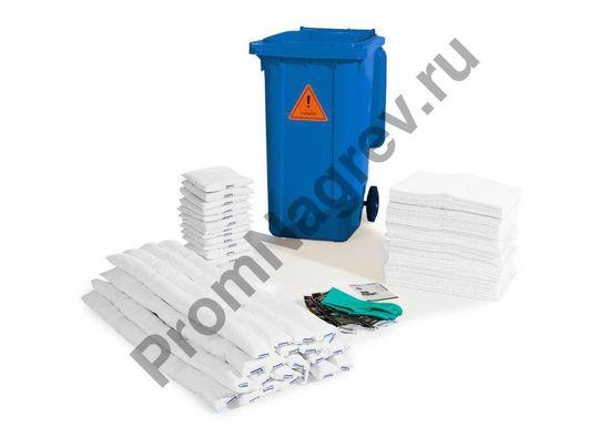 Набор на случай аварийной ситуации, поглощающие средства в контейнере на колёсиках B 24, для масел и нефтепродуктов.