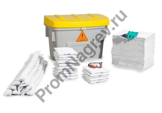 Набор сорбентов аварийный (двести мешков) в пластиковой коробке.