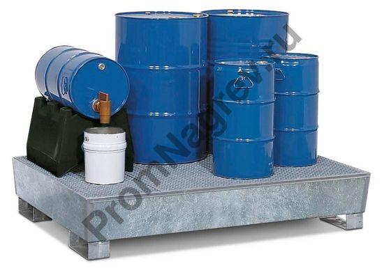 Фасовка вещества на удобном поддоне  штабелируемом под 4 бочки с решёткой, классическом, 1300x1780x343.