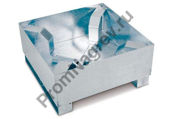 Поддон с осевым фиксатором для бочки, оцинкованный, стальной.