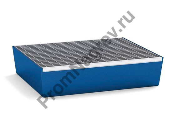 Поддон с решёткой, из окрашенной стали, вместимость - две малые бочки по 60 л
