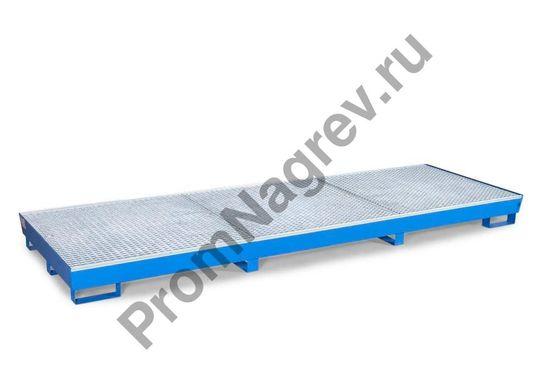 Поддон с вместимостью 12 бочек, решётки, ножки с вилочковыми разъёмами, Basis BC12.