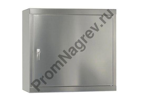 Подвесной шкаф Inox HSE-1 с полочкой и поддоном, устойчивый к химикатам.