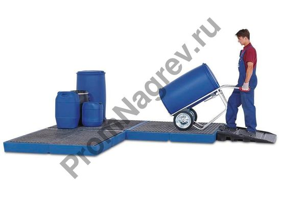 Полиэтиленовая платформа для пола с пластиковой решёткой (РЕ), 2200x1500x150 мм.