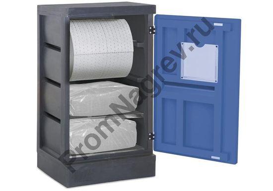 Шкаф для дозированного отпуска сорбирующих веществ (нефть, масло).