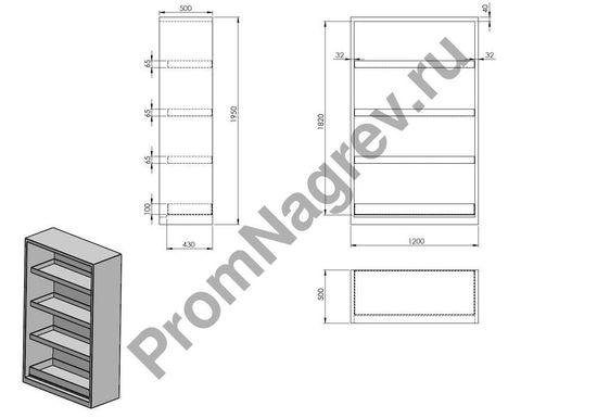 Шкаф для химикатов Space CS 124, с раздвижными дверями, 3 полками-поддонами и сточным лотком в днище, схема сборки и состава шкафа. Доставка шкафа происходит уже в собранном варианте.