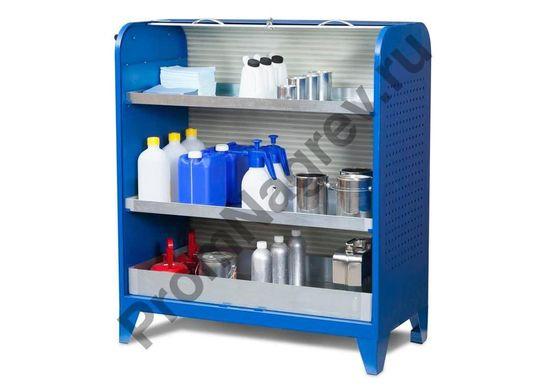Шкаф для химической лаборатории для хранения мелких ёмкостей на поддонах-полках, тип KT-2.