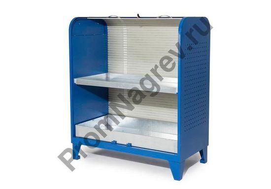 Шкаф для хранения мелких ёмкостей на поддонах-полках.Внутренние размеры каждого лотка: ширина 585 мм, глубина 455 мм, высота 505 мм.