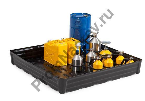 Поддон полиэтиленовый (РЕ) объем 180 литров, решётки не имеется.