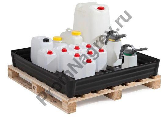 Поддон полиэтиленовый (РЕ) на 180 литров, решётки нет.