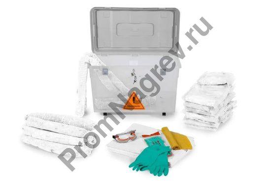 Сорбенты для ликвидации последствий аварий с утечкой опасных веществв коробке с прозрачными стенками передвижной.
