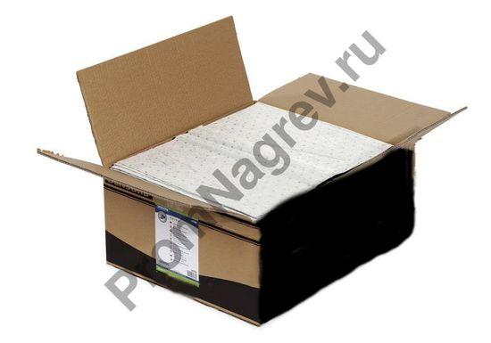 Сорбирующие салфетки в коробке, сложенные и готовые к отпарвке.