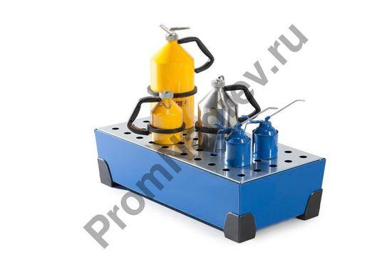 Мелкая тара для примера использования стального лотка из стали на 40 литров с перфорированной оцинкованной решёткой и уголками пластиковыми.