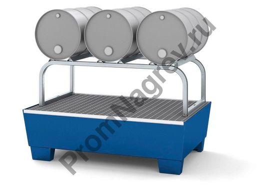 Держатель для удобного расположения бочек горизонтально, готовыми для розлива и фасовки жидкости.