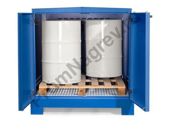 Контейнер-склад для хранения опасных веществ, тип L-4.2 на 4 бочки для пассивного хранения ЛВЖ