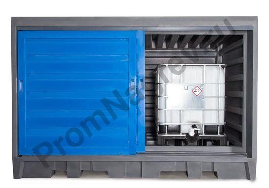 Склад для хранения масел, кислот и щелочей для  2 контейнеров IBC по 1000 литров