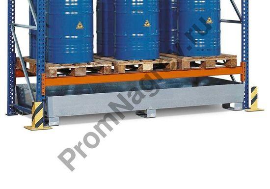 Оцинкованный поддон PRW 65 из стали для стеллажа с шириной полок 2700 мм, подходит для автопогрузчика.