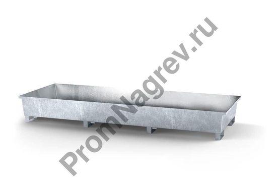 Поддон стальной оцинкованный без решётки, созданный для стеллажей.